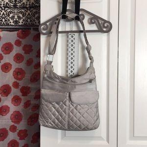 Travelon grey cross-body purse w RFID blocking